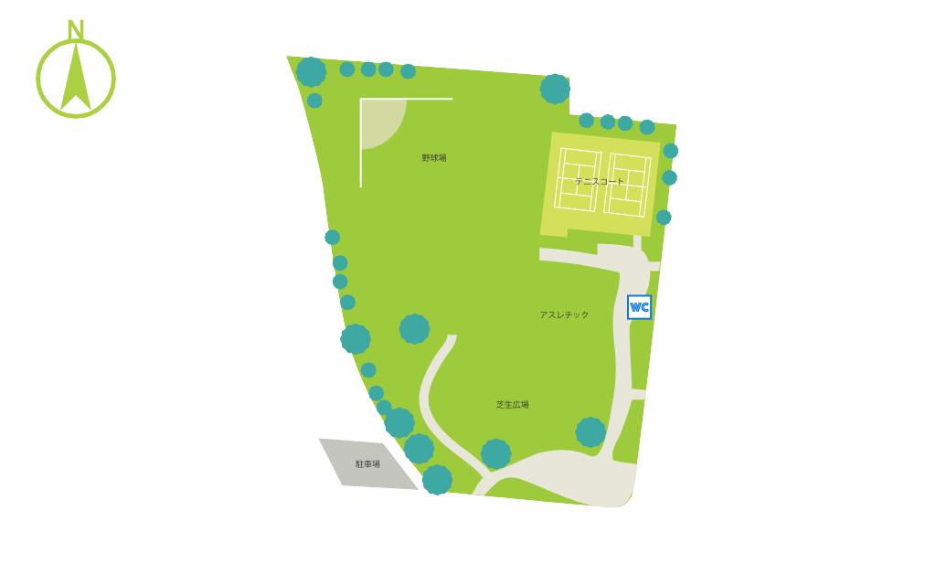 千塚西公園マップ