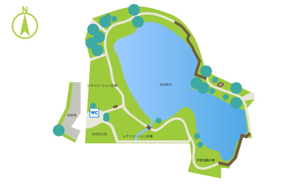 高須賀池公園マップ